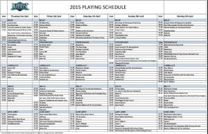 Bluesfest Schedule