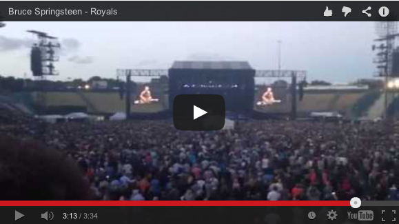 Bruce Springsteen covers royals