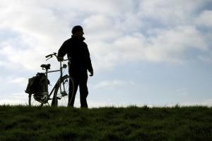 grass:bike silhouette