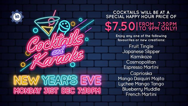 Cocktails and Karaoke – New Year's Eve Offer