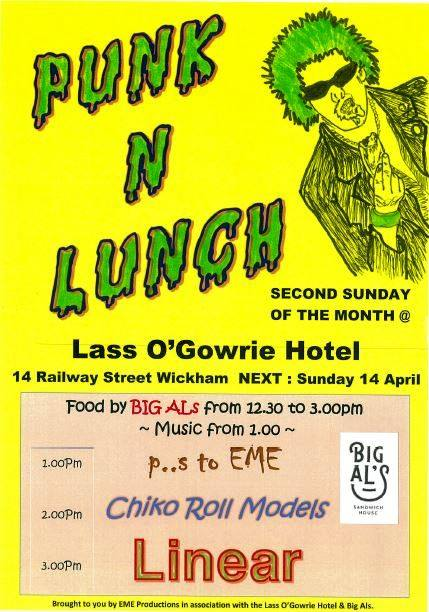 Punk N Lunch at The Lass 14th April