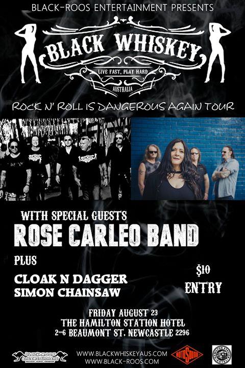 Black Whiskey + Rose Carleo & Guests ~ Newcastle