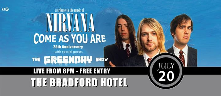 Nirvana Show & Green Day Show LIVE at The Braddie!