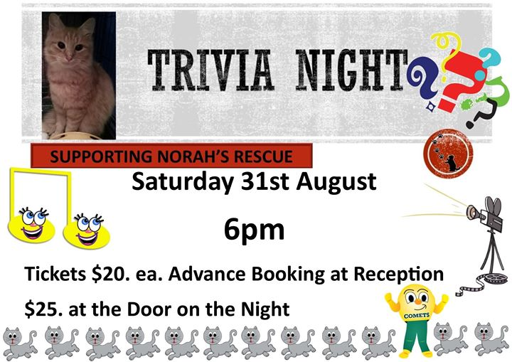 Norah's Rescue Trivia Night