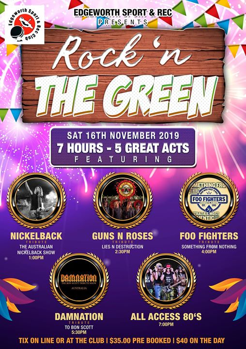 Damnation and others at Rock The Green SAT Nov 16th