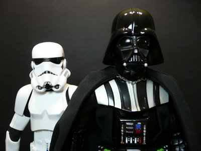 Friday Night Disco with Darth Vader and Storm Trooper