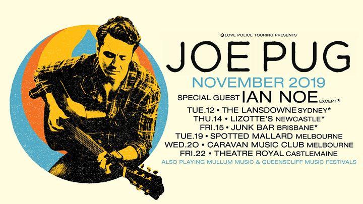 Joe Pug Australian Tour 2019