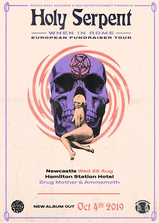 Holy Serpent – When In Rome Tour – Newcastle