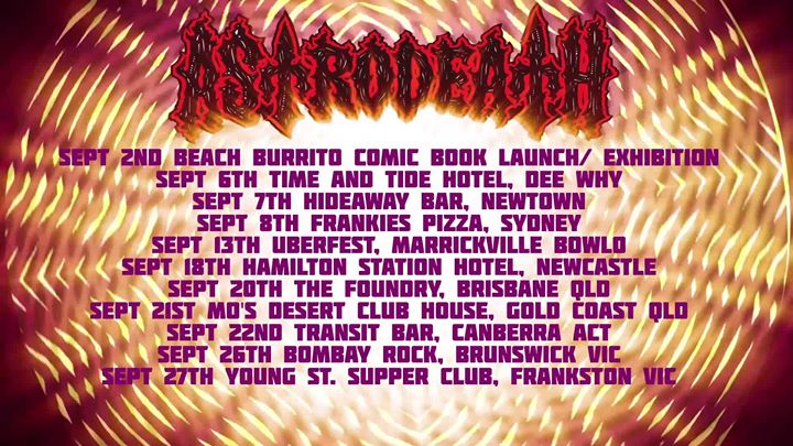 Astrodeath Debut Album Launch Tour. The Hamilton Newcastle
