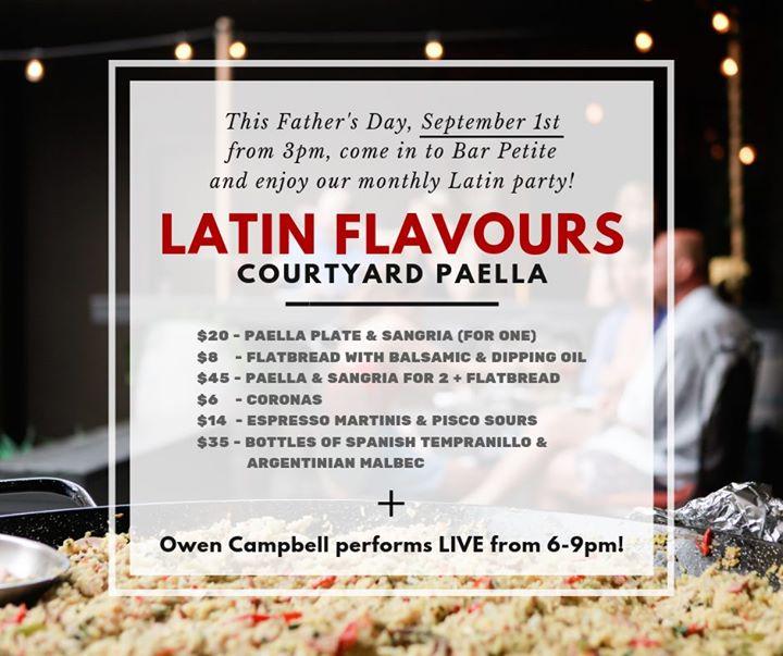 Latin Flavours – Courtyard Paella Party