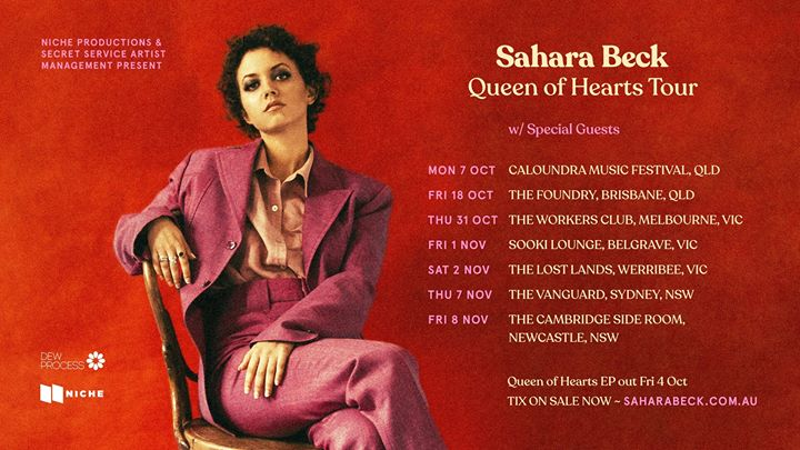 Sahara Beck Queen Of Hearts EP Tour w/ Special Guest Saint Moon