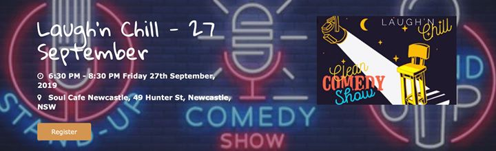 Laugh'n Chill – 27 September with Peter Booth.