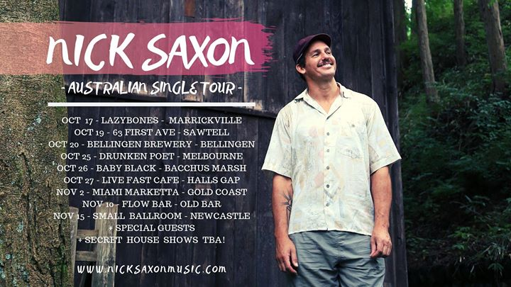 Nick Saxon AUS single release tour