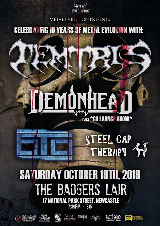 M.E. Newcastle anniversary show with Temtris Demonhead and more