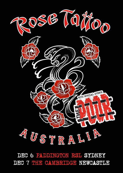 Rose Tattoo Saturday December 7 – The Cambridge with The Poor