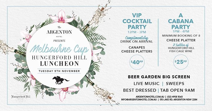 Melbourne Cup Hosted By The Argenton Hotel