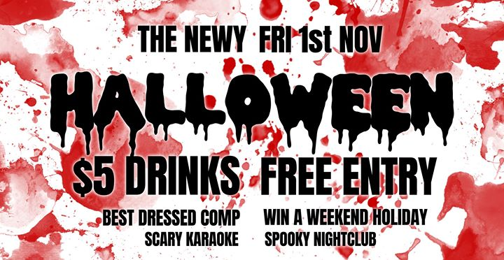 Halloween at The Newy Hotel ★ Free Entry & $5 Drinks