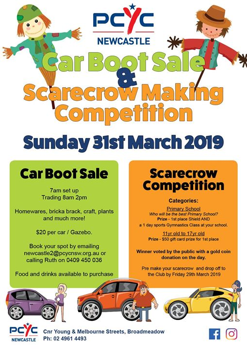 Car Boot Sale & Scarecrow Making Competition