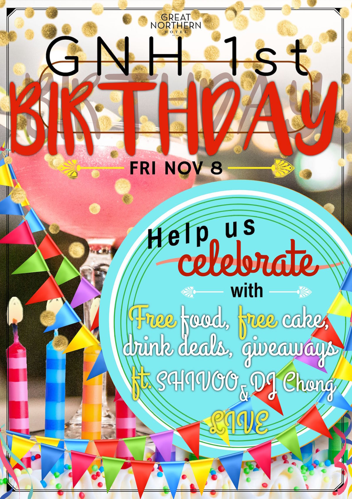GNH 1st Birthday Party! Featuring Shivoo & DJ Chong