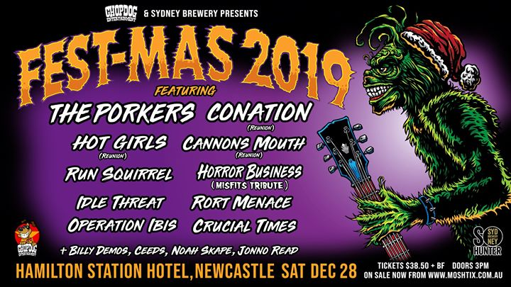 Festmas 2019 w/ The Porkers + Conation & more