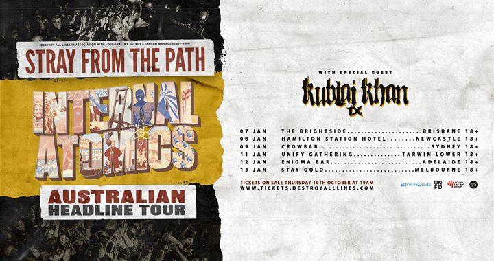 Stray From The Path Aus Tour w/ Kublai Khan – Newcastle