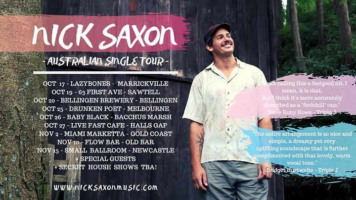 Nick Saxon Single Tour