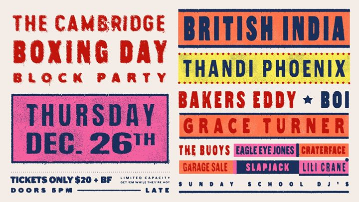 ✩ Boxing DAY Block Party ✩ The Cambridge
