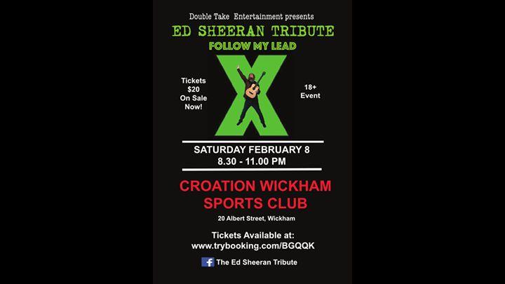 Ed Sheeran Tribute – Croation Club, Wickham