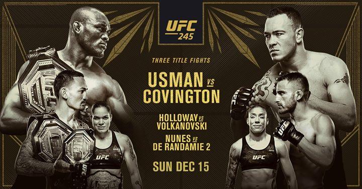 UFC 245 at The Hamo // Three Title Matches