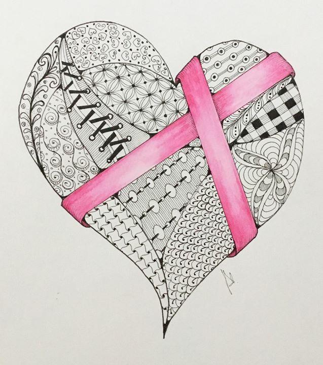 Valentine Heart Tangle