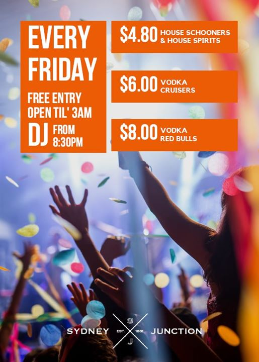 Every Friday at Sydney Junction Hotel