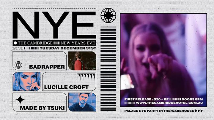 ≥ NYE at The Cambridge ≤ FT. Badrapper, Lucille Croft and MORE