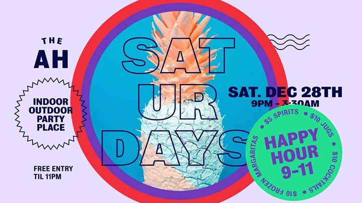 Saturdays at The AH – Indoor & Outdoor Party Place