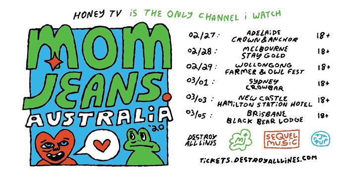 Mom Jeans Australian Tour 2020 – Newcastle