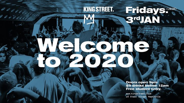 Welcome to 2020 Party • $5 drinks til midnight