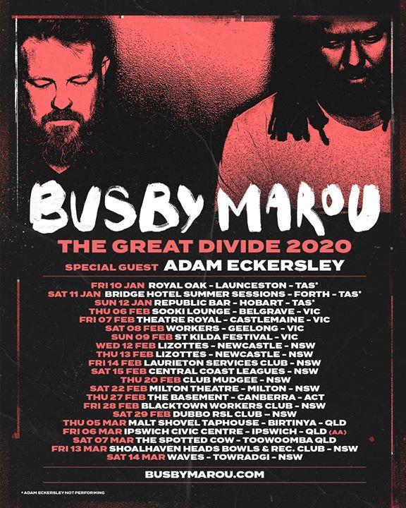 Busby Marou / Lizottes, Newcastle NSW (18+)