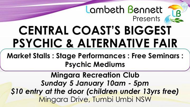 Central Coast Psychic and Alternative Fair – Mingara Club