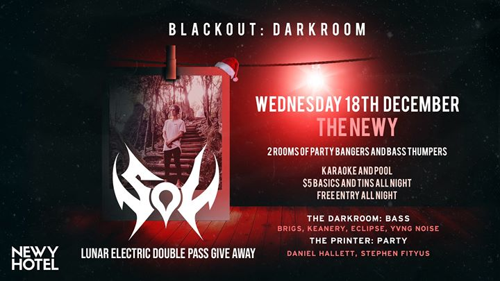 Blackout: Darkroom ft. Sol // Free Entry $5 Basics & Tins