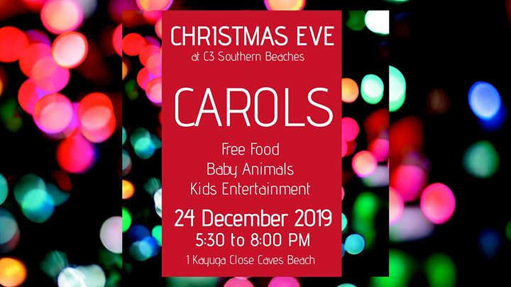 Christmas Eve – Carols in CAVES BEACH