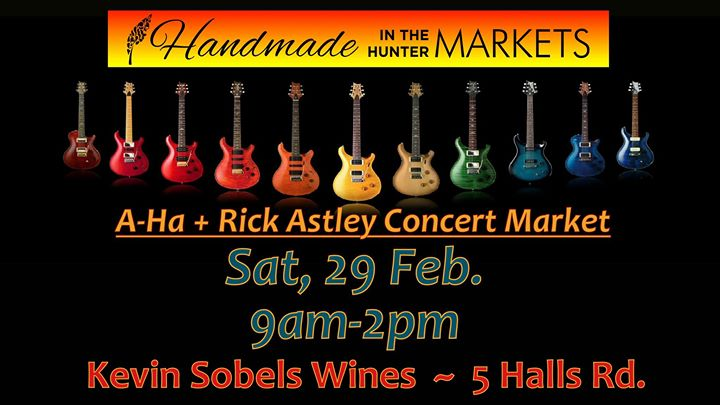 Handmade in the Hunter A-Ha + Rick Astley Concert Market