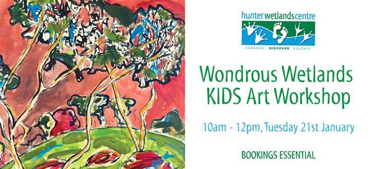 Wondrous Wetlands Kids Art Workshop – Tues 21st Jan
