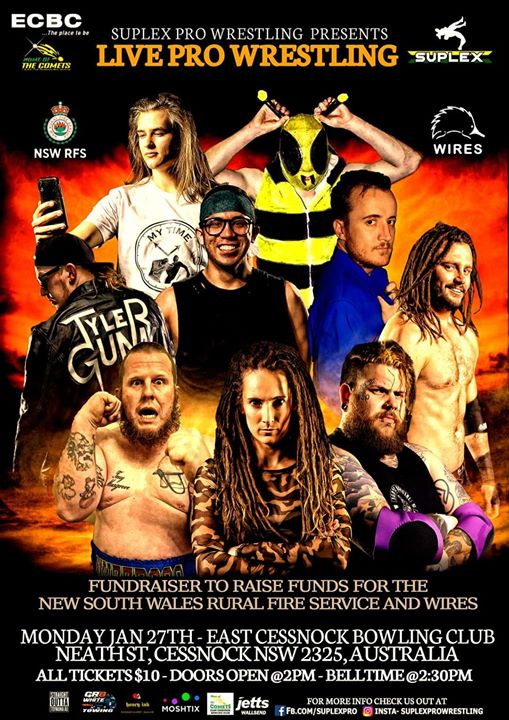 Pro Wrestling Fundraising For The RFS And WIRES