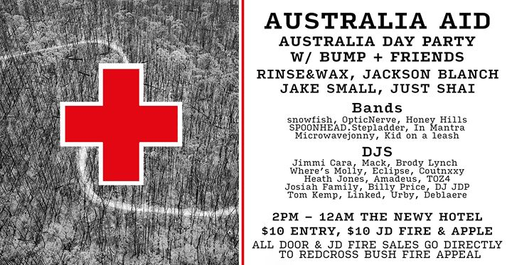 Australia Day Fire Fundraiser Courtyard Party | Bump x The Newy