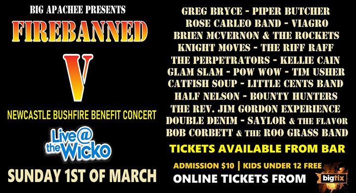 Firebanned V – Newcastle Bushfire Benefit Concert