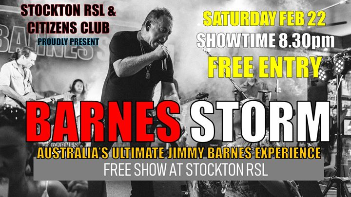 Barnes Storm, Australia's Ultimate Jimmy Barnes Experience
