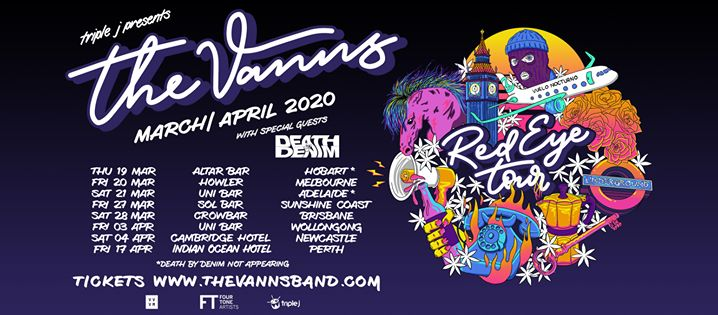 The VANNS Red Eye Tour 2020 – Newcastle