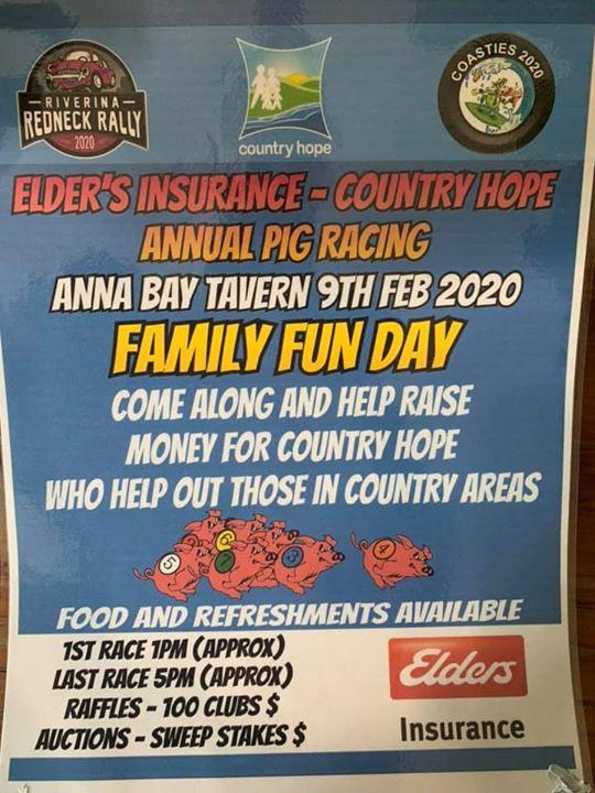 Elders Insurance – Country Hope Annual Pig Racing