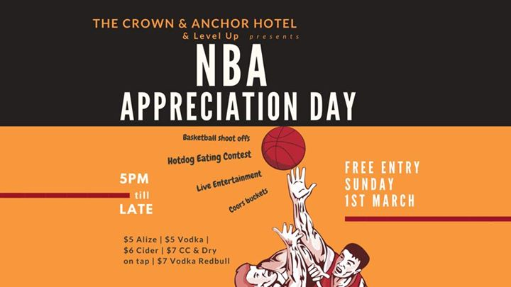 Level Up Sundays NBA Appreciation Edition at The Crown & Anchor
