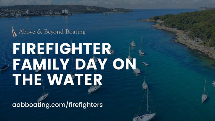 Firefighter family day on the water – Lake Macquarie