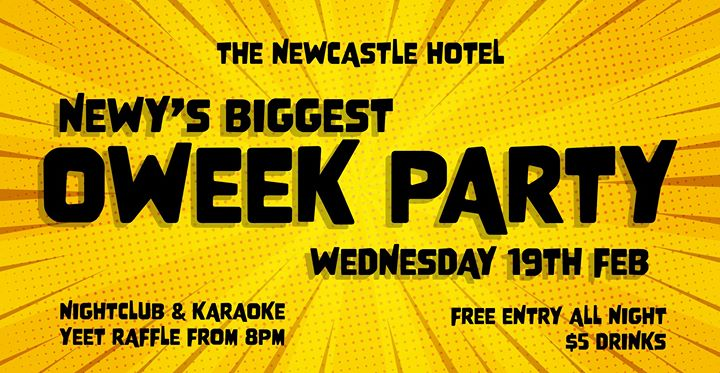Newy's Biggest O-Week Party | The Newy – Free Entry & $5 Drinks